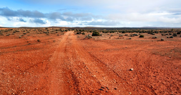 red outback track